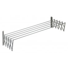 Aluminum expandable clothes line