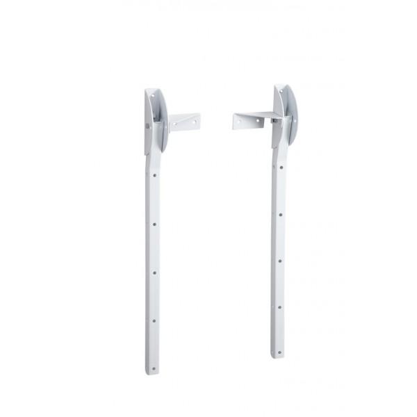 Klaphaken om zelf waslijnen te maken wit 89420 - Tendedero de pared abatible ...