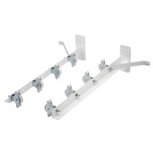 White plastic coated wall fixed clothes airer- 8 pulleys
