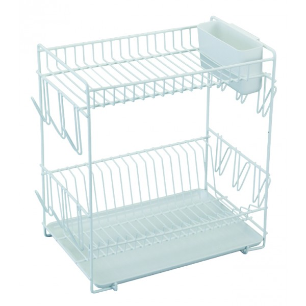 Large white plastic coated dish drainer ...  sc 1 st  WebShop HouseHold & White plate rack online