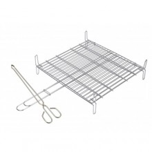 Stainless steel double grill