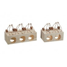 Wooden mouse traps with holes